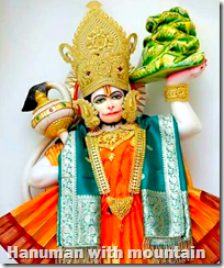 [Hanuman with mountain]