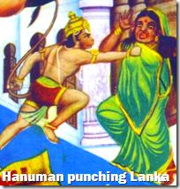 [Hanuman punching Lanka]