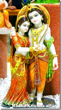 [Radha-Krishna altar]