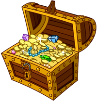 [treasure chest]