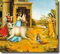 [Krishna riding calf tail]