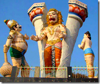 [Narasimha emerging from pillar]