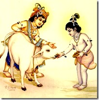 [Krishna and Balarama with cow]