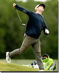 [throwing golf club]