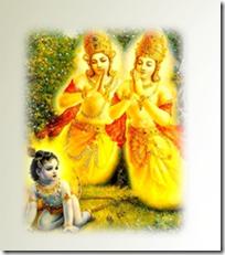 [Krishna with sons of Kuvera]