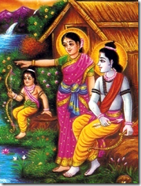 [Rama and Sita in forest]