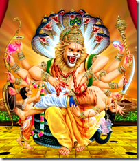[Narasimha and Prahlada]