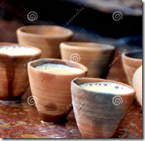 [clay drinking cups]