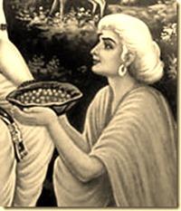 [Shabari offering fruits]