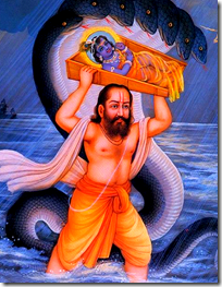 [Vasudeva crossing the Yamuna]