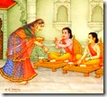 [Lakshmana and Rama eating]