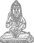 [Hanuman reading]