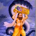Vasudeva crossing the Yamuna